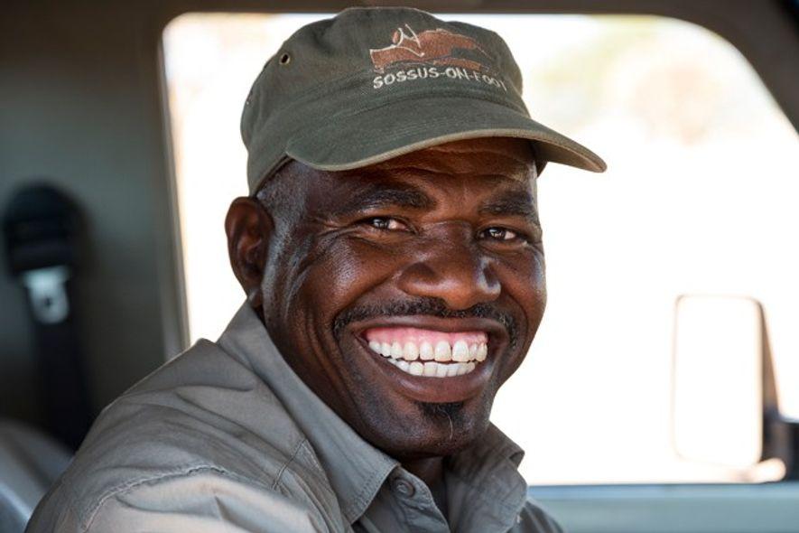 Frans, a guide based at Boesman's Farm, central Namibia. Image: Slawek Kozdras