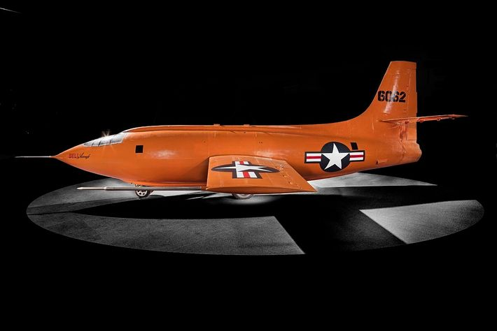 The Bell X-1. A formidable plane, Chuck Yeager actually broke through the sound barrier on just ...