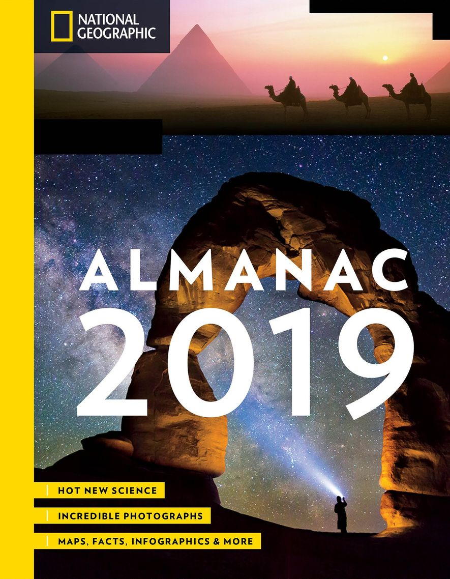 National Geographic Almanac 2019 includes this and other travel trivia.