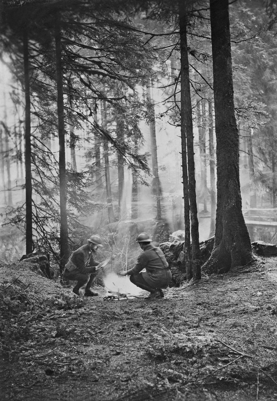 A close-up of the French front line shows the rare access that photographer and writer Harriet ...