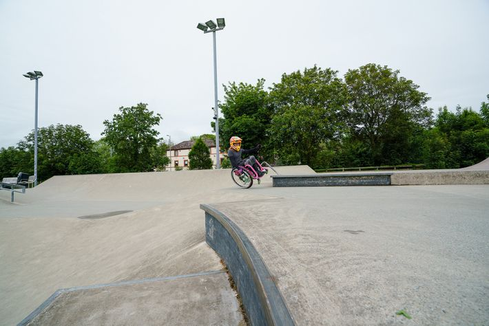Haverfordwest in Pembrokeshire, Wales is the local park for WCMX (wheelchair motocross) champion Lily Rice, who ...