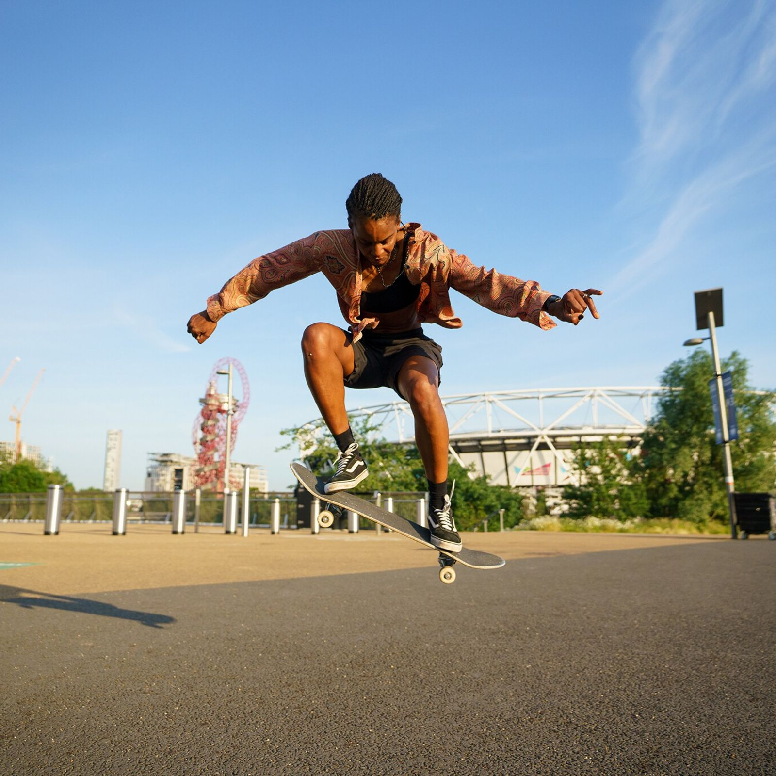 BIPOC- and queer-led skate crew Melanin Skate Gals & Pals runs sessions at London's Queen Elizabeth Park on ...