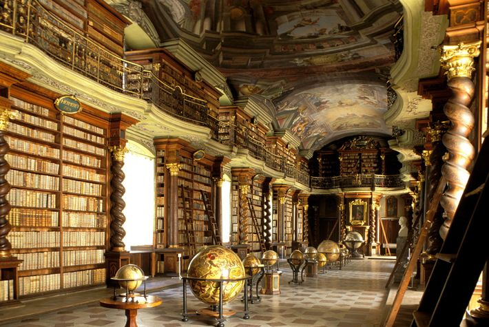 The treasures at the National Library of the Czech Republic, opened in 1722, include collections of ...