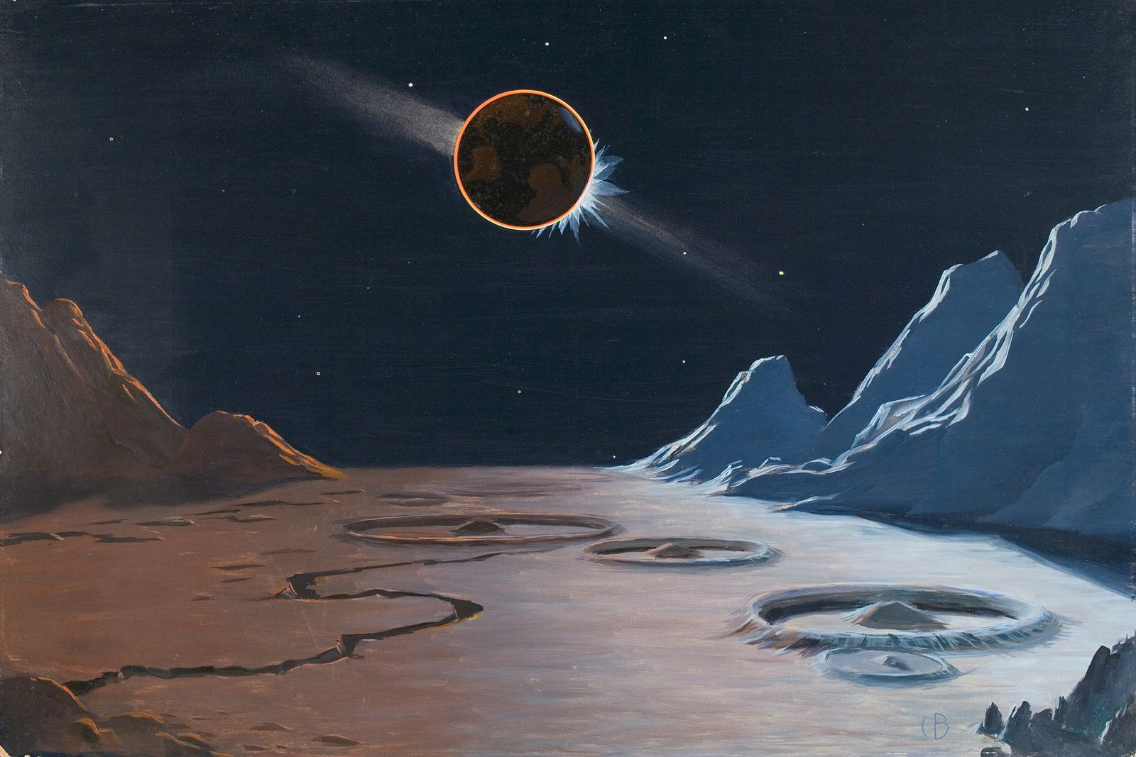 How humans imagined and painted space in the 1930s