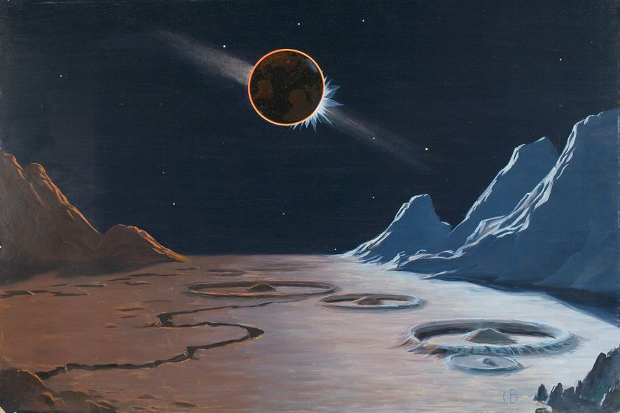 Before we explored outer space, we tried to paint it