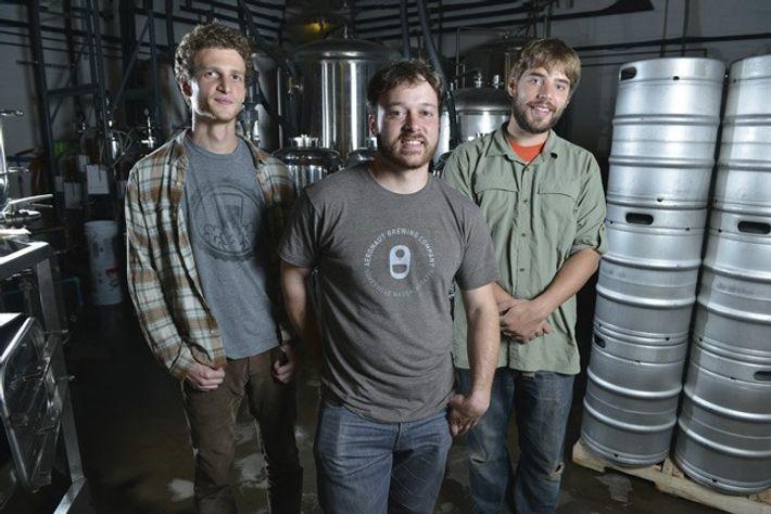Aeronaut Brewing Company founders Dan Rassi, Ronn Friedlander and Ben Holmes. Image: Josh Reynolds
