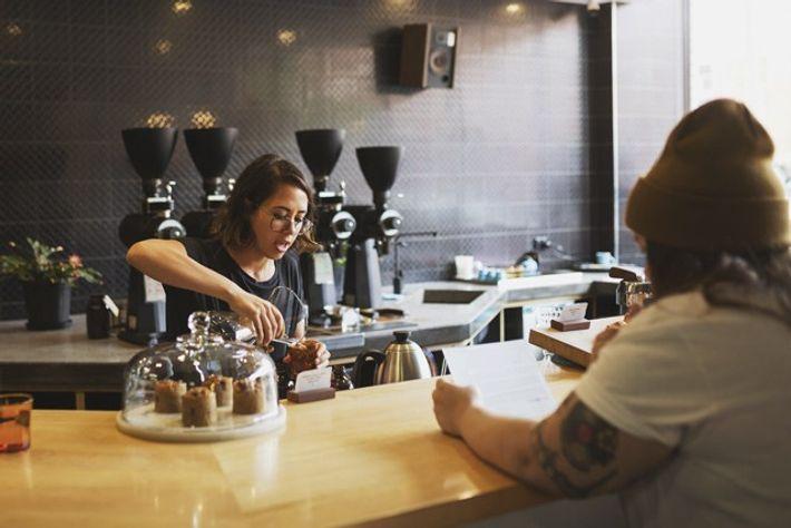 Coffee at Aunty Peg's. Image: Chris Van Hove