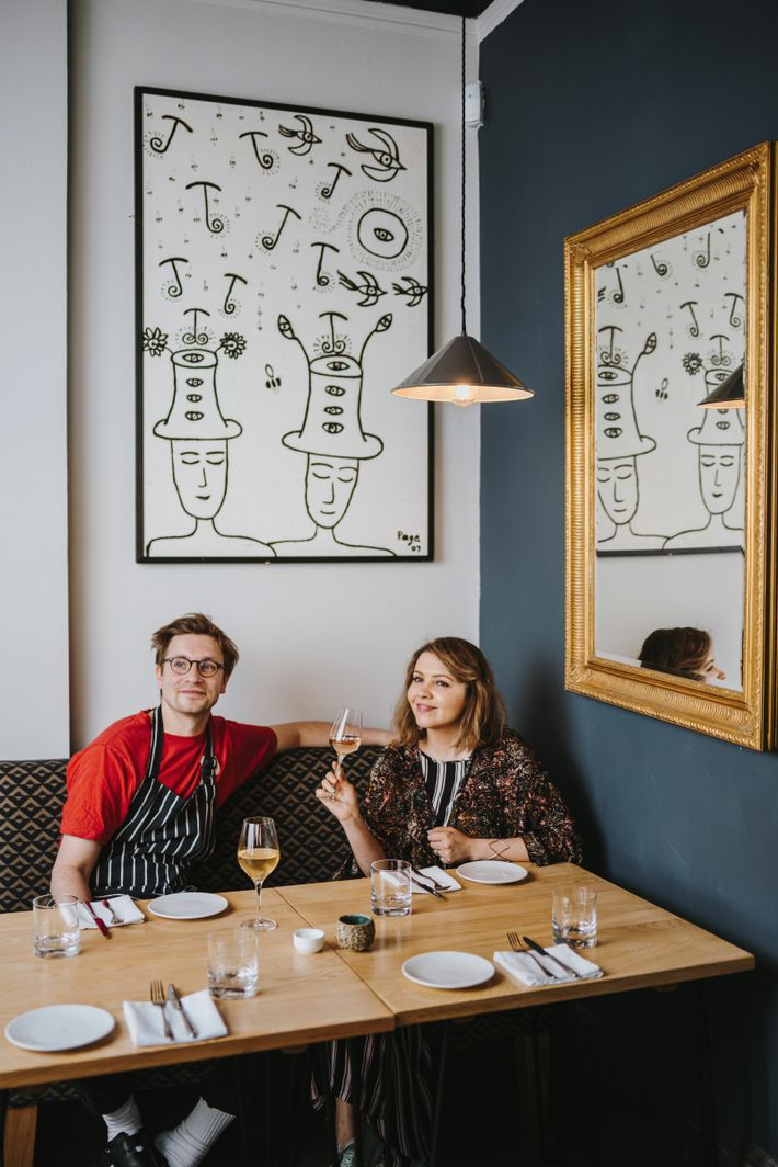 Darren and Aleks Murray, owners of Borough, in Leith.