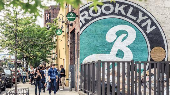 Mural outside Brooklyn Brewery