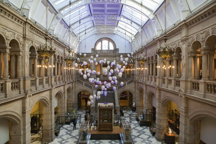 The majestic Kelvingrove Art Gallery and Museum, which contains a gallery dedicated to the Glasgow Boys ...