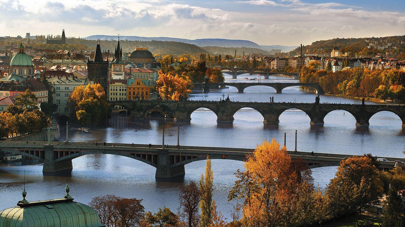 Bridges over the Vltava river, the longest in the Czech Republic.