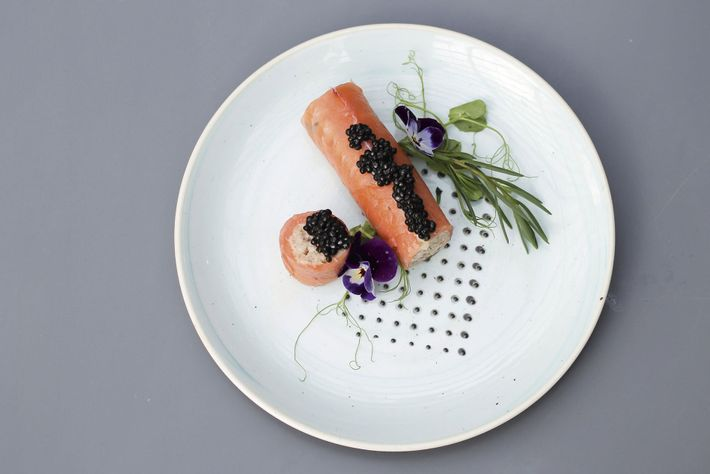 moked salmon and crab cannelloni, A'Challtainn
