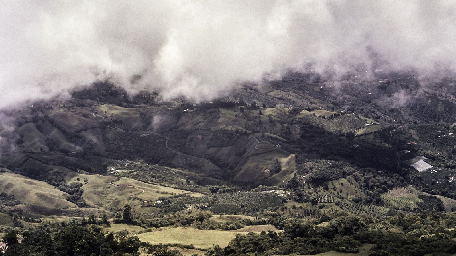 The lush, fertile hillsides of Caldas are part of the Coffee Cultural Landscape of Colombia UNESCO ...