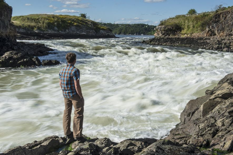 Bryan Smith stands over the Reversing Falls on the Saint John River.