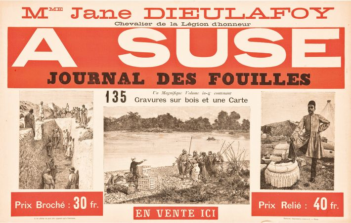 Newspaper from the excavations at Susa. Hachette, 1888