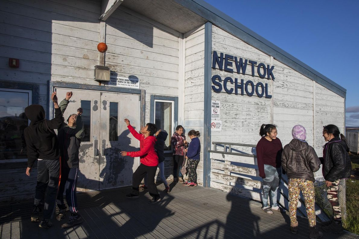 The Newtok School will be shuttered as more and more children move to the new community …