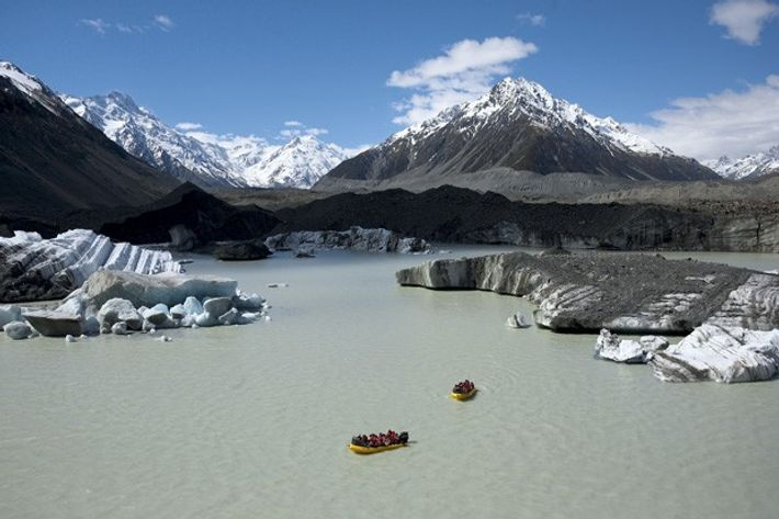 New Zealand Glacier Lake