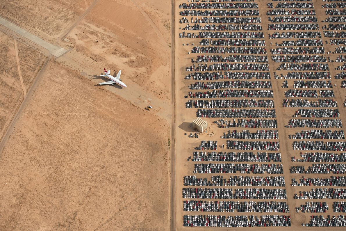Thousands of Volkswagen and Audi cars sit idle in the middle of California's Mojave Desert. Models ...
