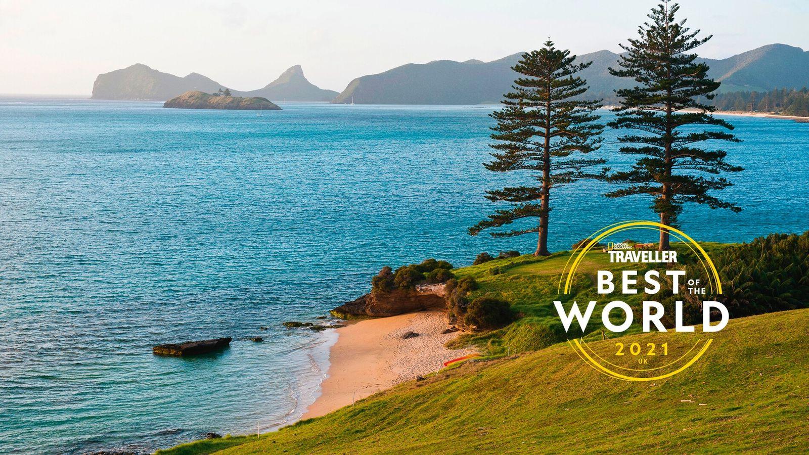 The coast of Lord Howe Island, New South Wales, Australia.