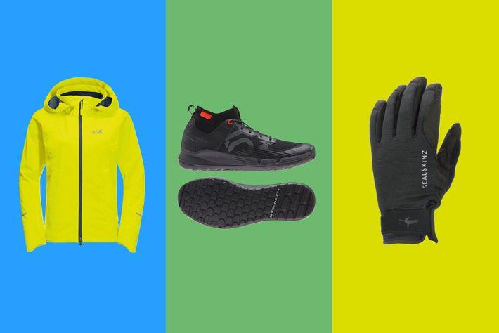 Jack Wolfskin Atlas Tour jacket;Adidas Five Ten Trailcross XT mountain bike shoes;Sealskinz waterproof all-weather glove with ...