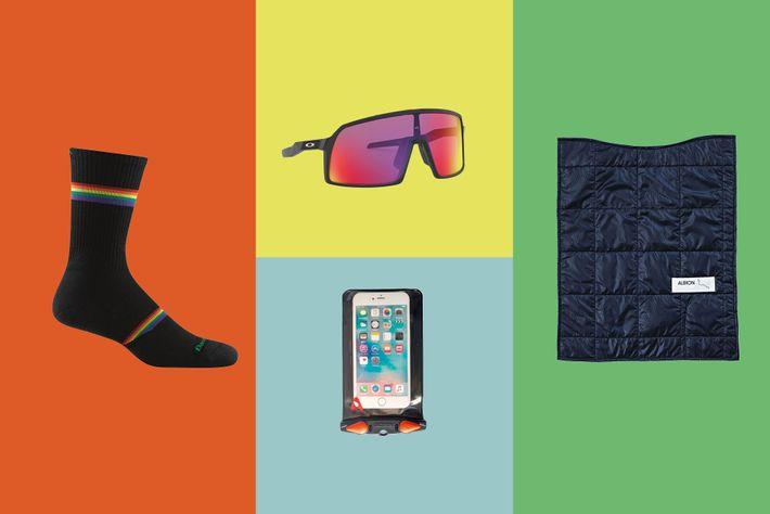 Darn Tough socks;Oakley Sutro cycling glasses;Aquapac DockSystem waterproof phonecase;Albion burner.