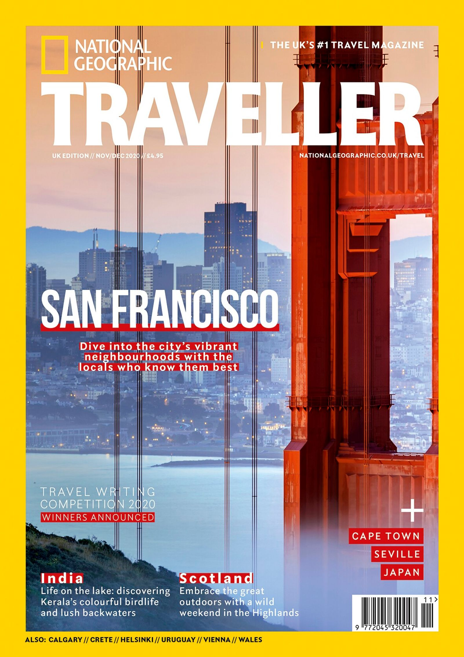 The Nov/Dec 2020 issue of National Geographic Traveller (UK)