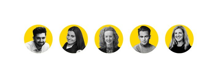 Left to right: Connor McGovern, Federica Rustico, Heather Green, Joe Hurd, Sarah Barrell