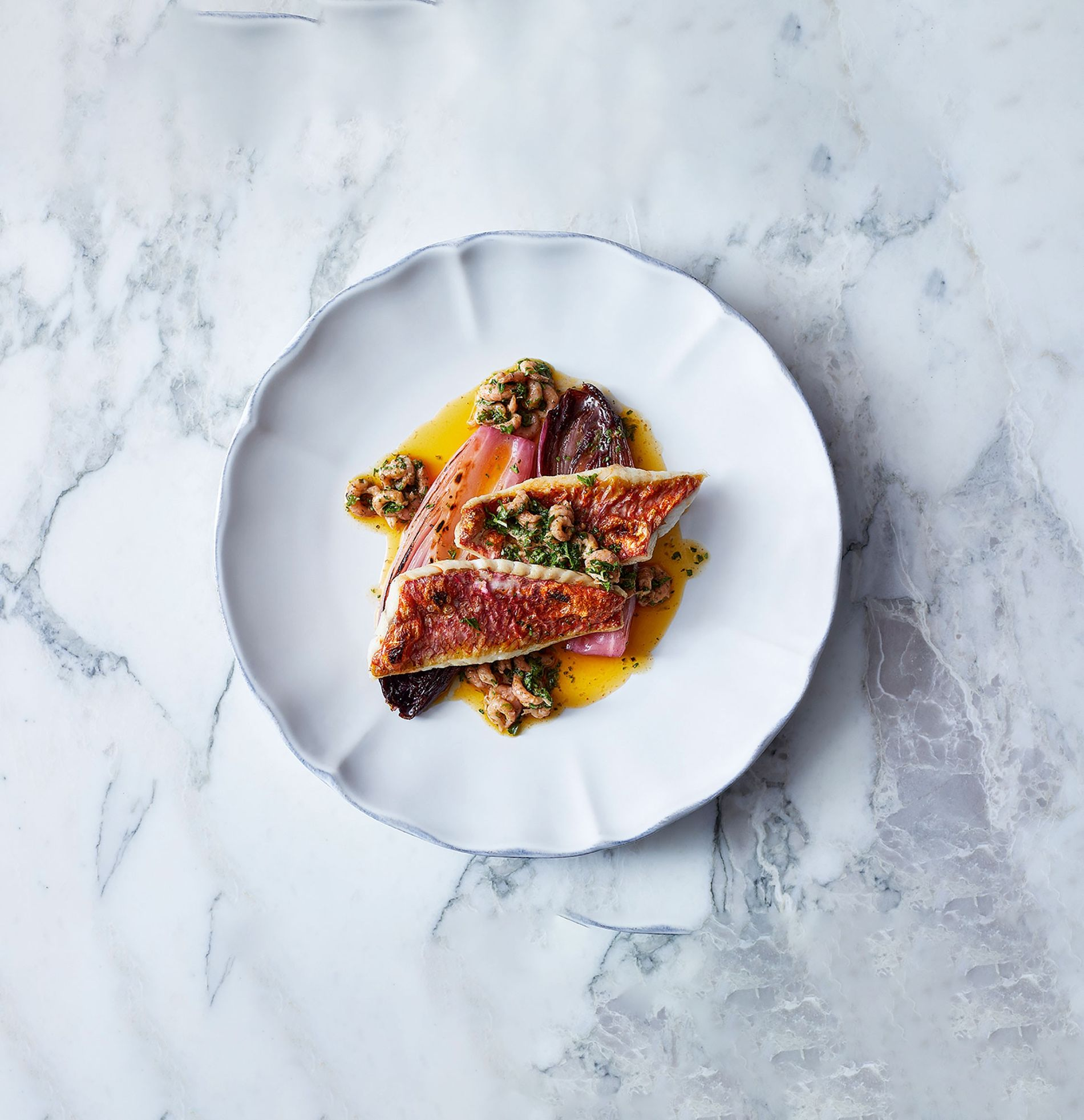 Siren's red mullet in a Champagne sauce.