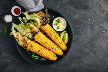 In Japan, sweetcorn skewers are dusted with shichimi togarashi, a spicy seasoning made with citrus peel, ...