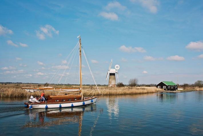 The Norfolk and Suffolk Broads is Britain's largest protected wetland, with a network of more than ...