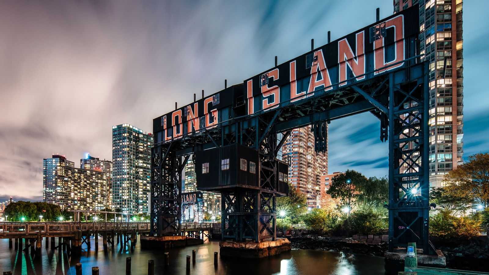 Long Island City by night.