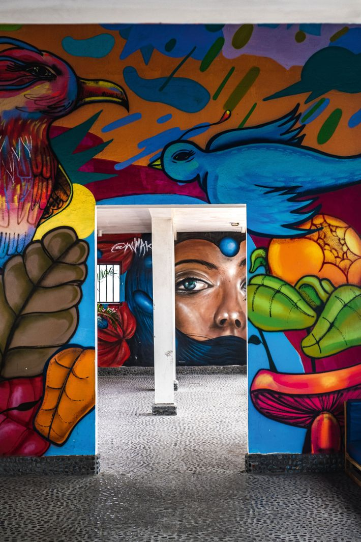 Graffiti at Monumental Callao, an area of Lima dotted with street art, performance spaces and food ...