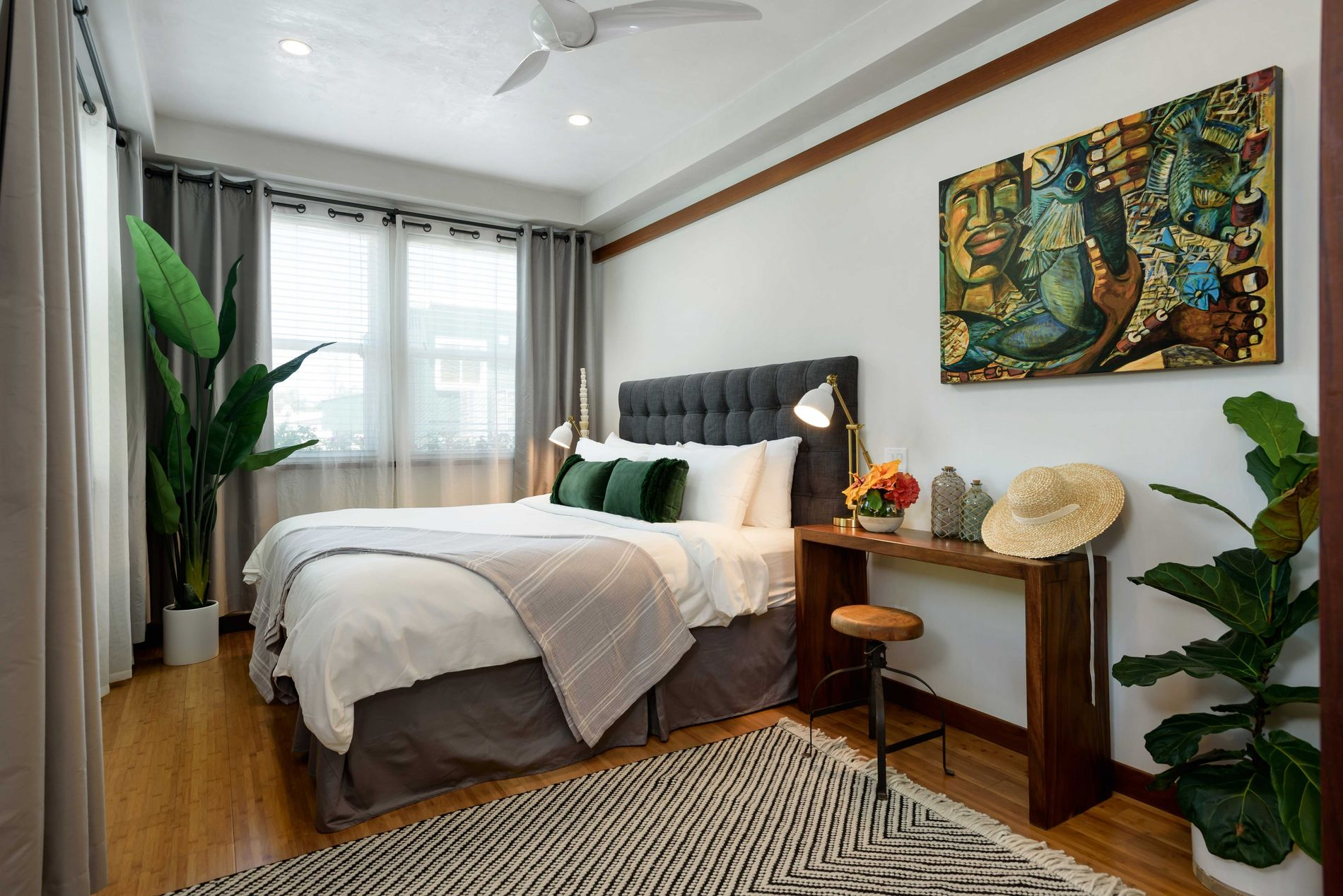 The decor of Paia Inn reflects the owners' exotic travels — a day-bed from Bali here, ...