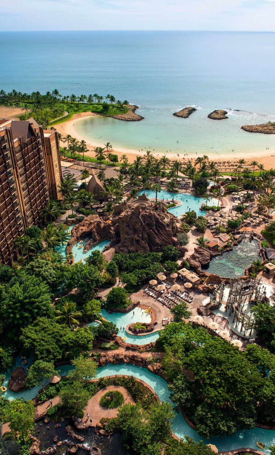 Disney Aulani is the all-singing, all-dancing resort in Ko Olina, ideal for families.