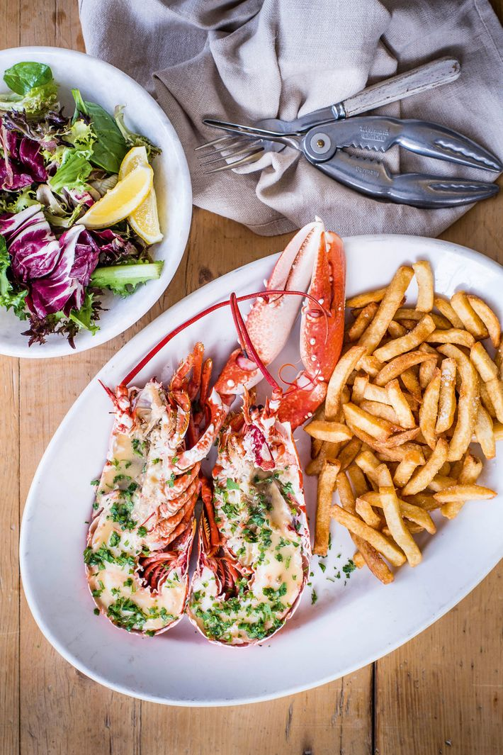 Lobster with chips