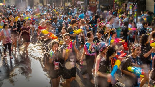 The winning piece of writing, from Doug Loynes, cleverly builds suspense in the lead-up to Thailand's Songkran ...