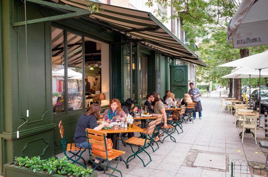 Cafe culture on Oborishte Street.