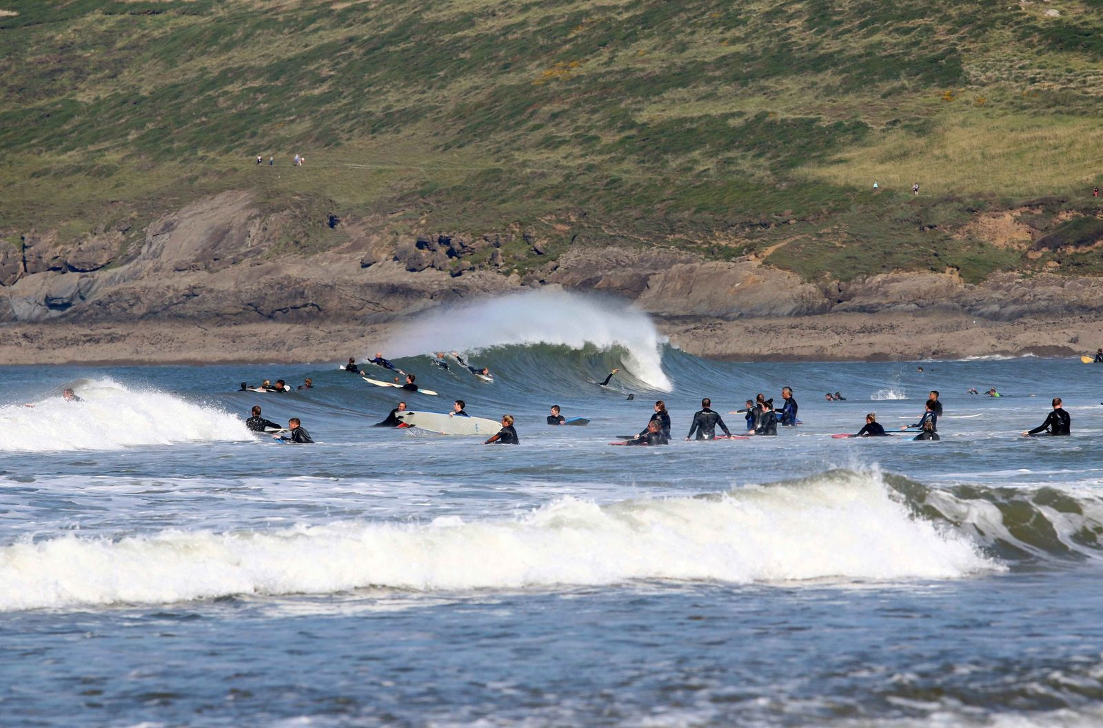 The seaside village of Croyde in North Devon is among the UK's most popular surfing spots.