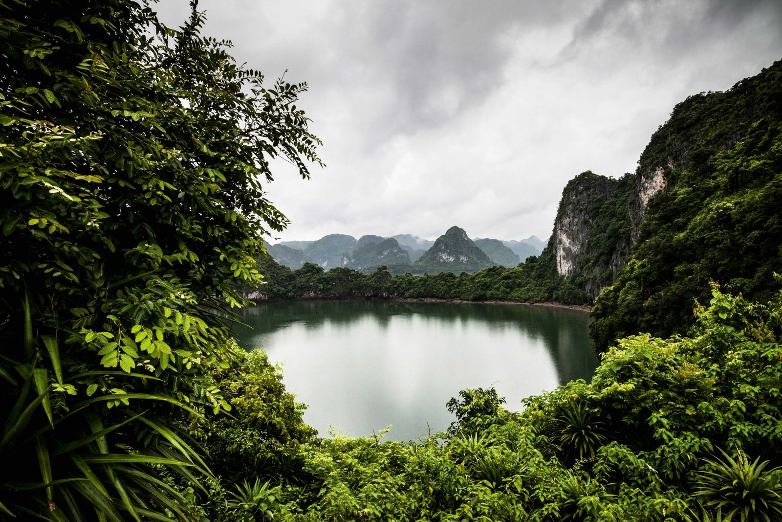 The coves and inlets of Lan Ha Bay are blissfully quiet and great for diving.
