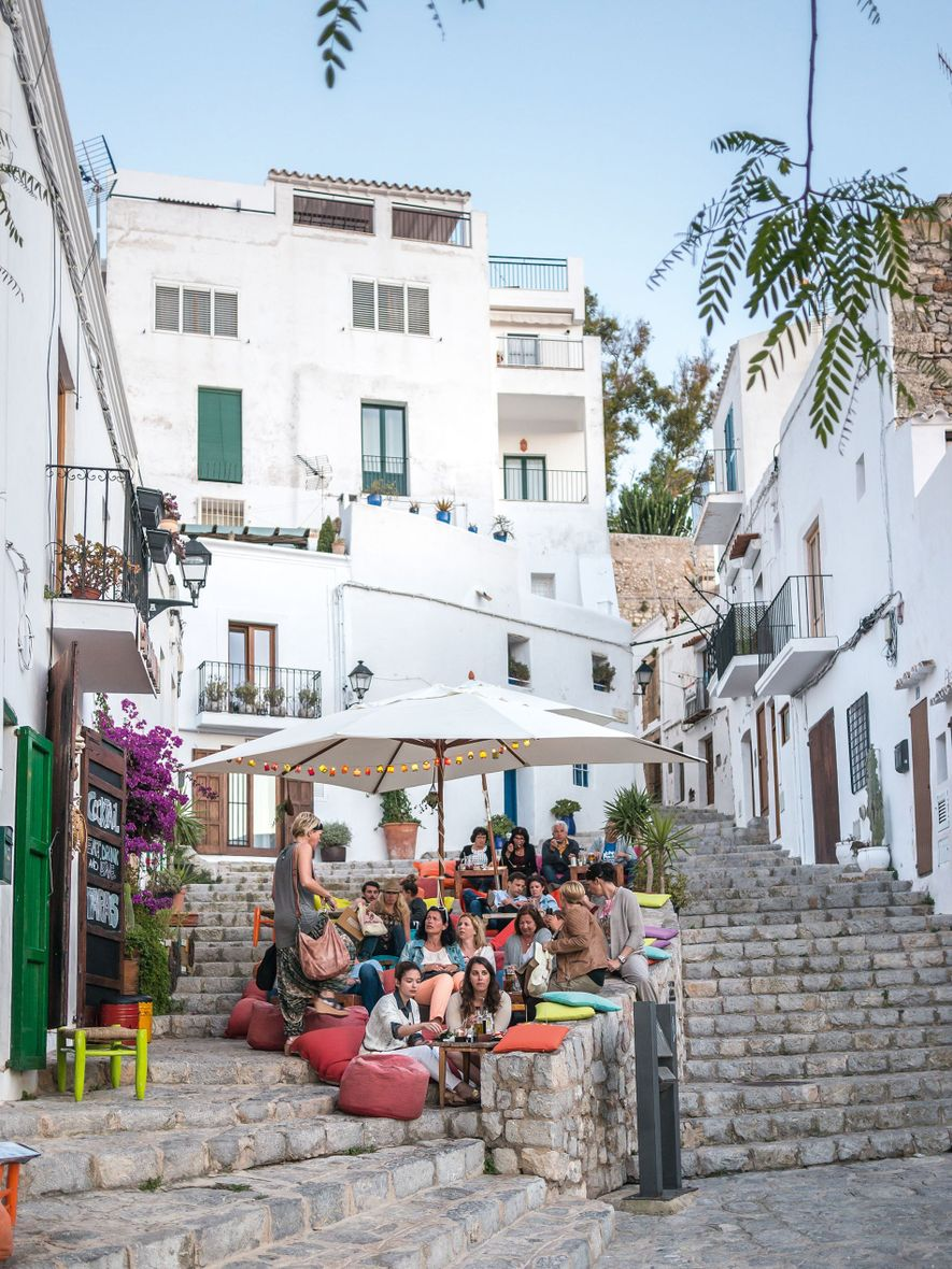 S'Escalinata is by no means a secret, but its colourful beanbags and tapas menu make for a blissful lunch stop.