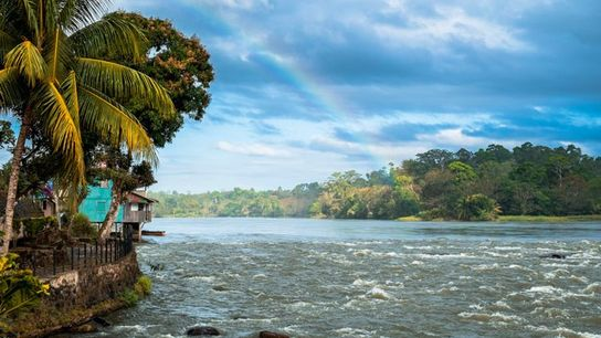 Little village of El Castillo along the Rio San Juan, Nicaragua