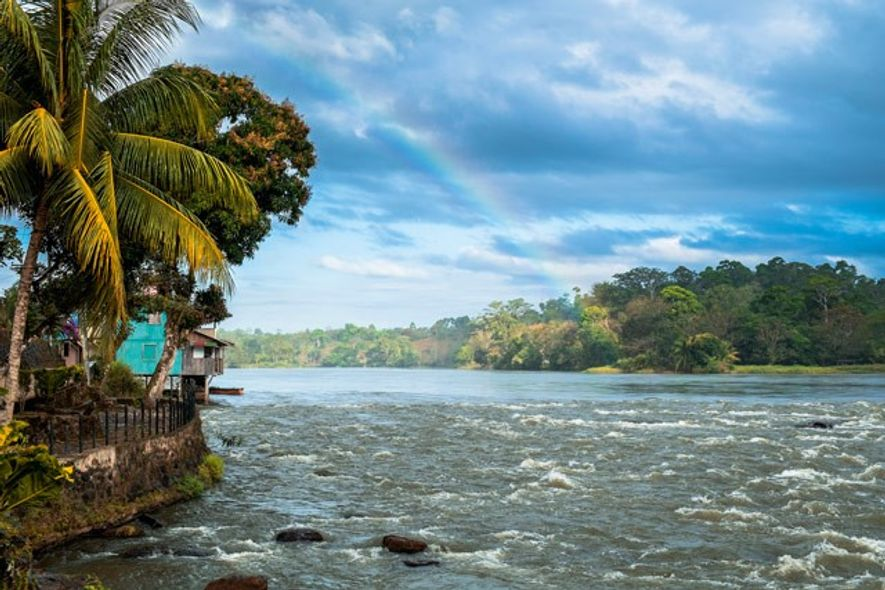 Little village of El Castillo along the Rio San Juan, Nicaragua.