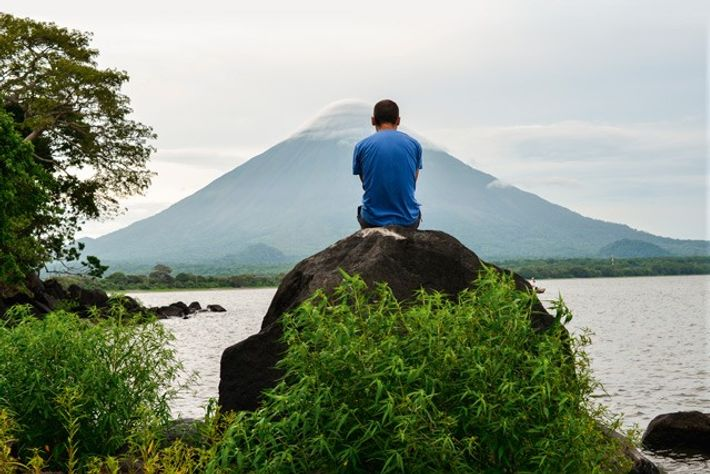 Looking towards volcanic Ometepe and Lake Nicaragua. Image: Getty