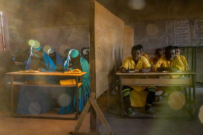 In Agadez, Niger, an Izala school educates about 1,300 students. Izala is a back-to-basics Islamic reformist ...