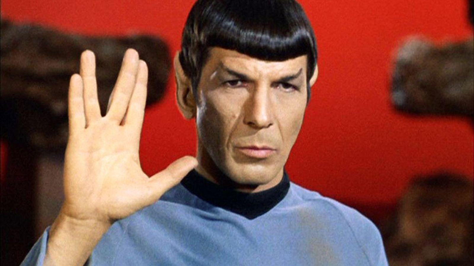 Actor Leonard Nimoy originated the Vulcan salute on the 1960s television series Star Trek.