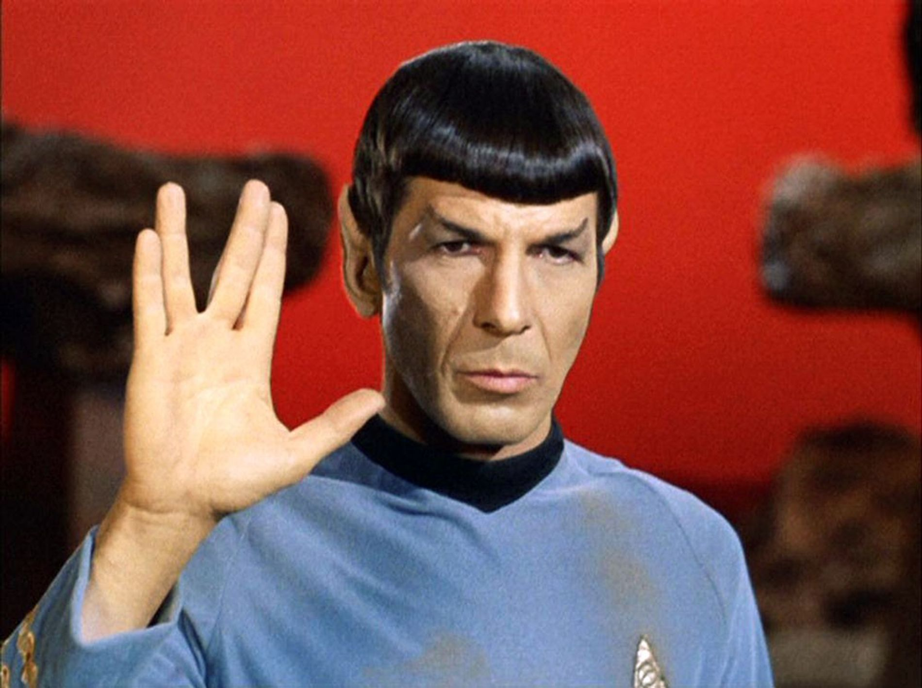 Actor Leonard Nimoy originated the Vulcan salute on the 1960s television series Star Trek.