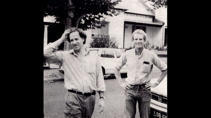 Nomad incorporates archival photos, including this one of Werner Herzog and Bruce Chatwin, to tell the ...