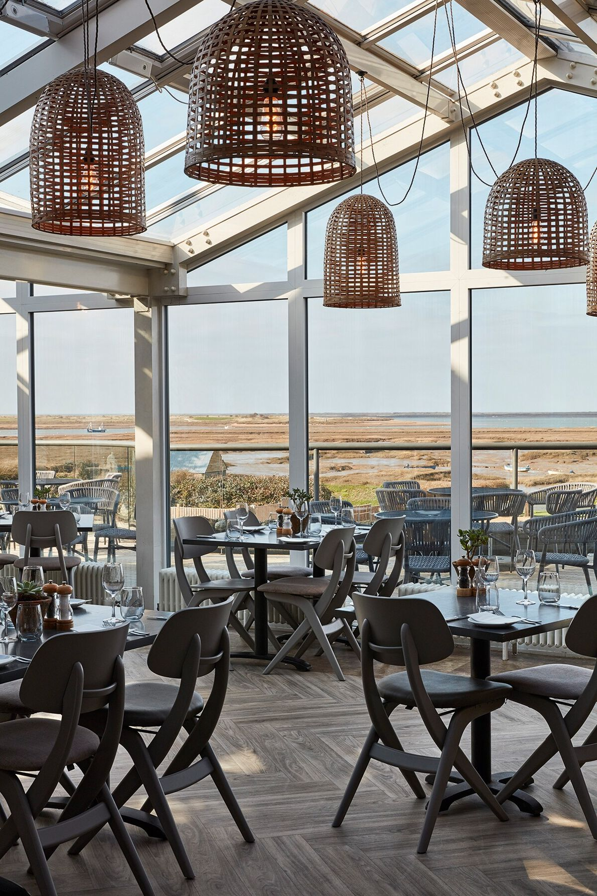 The White Horse has a bright conservatory and wraparound terrace that allows diners to enjoy unobstructed ...