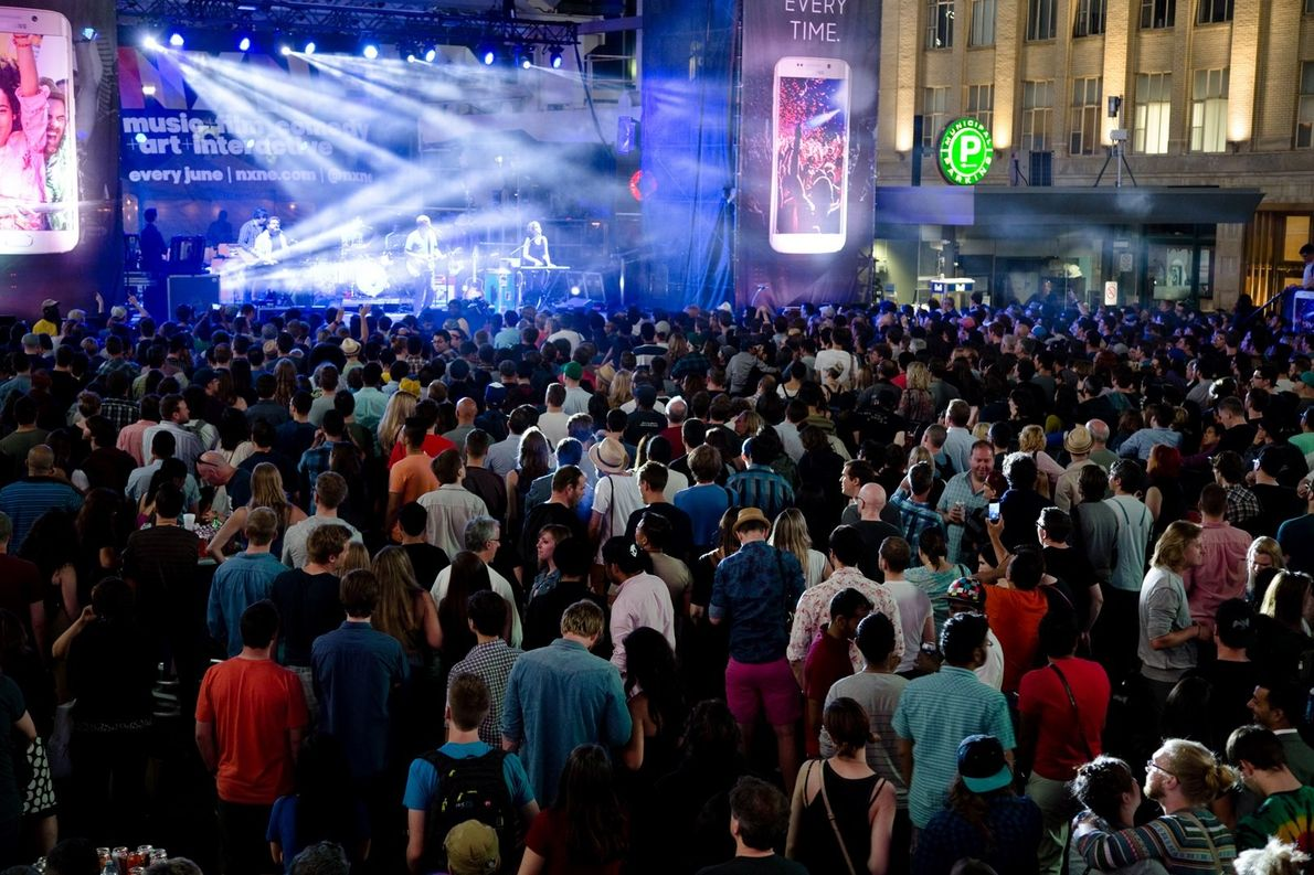 Toronto's annual North by Northeast music festival is held every summer and includes live music, film, ...