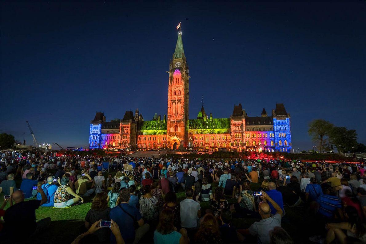 """The free sound and light show, 'Northern Lights',""""] takes viewers on a journey through Canada's history ..."""